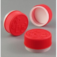 38mm Child Resistant TT Cap Red V