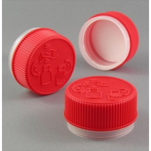 38mm Child Resistant TT Cap Red V