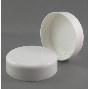 63mm Standard Smooth Wall White Cap
